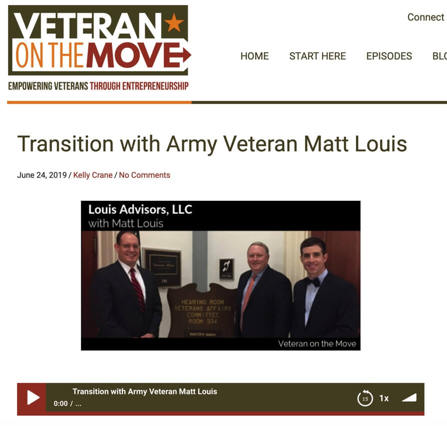 Welcome Veteran on the Move Podcast Listeners