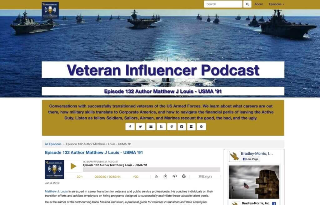 Welcome Veteran Influencer Listeners