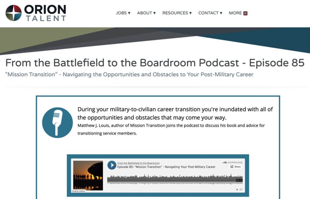 Welcome From the Battlefield to the Boardroom Listeners