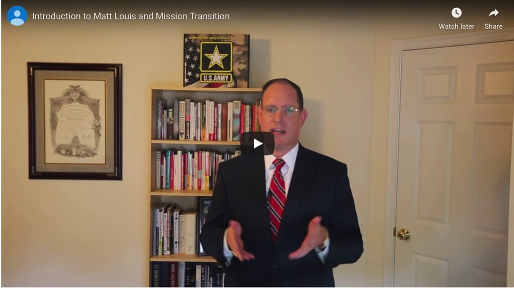 Introduction to Matt Louis and Mission Transition