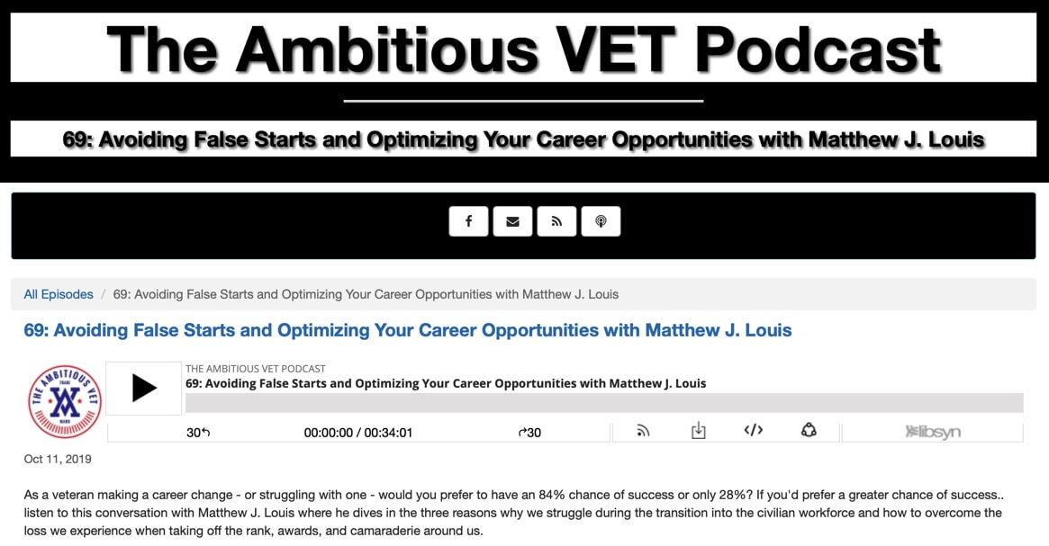 Welcome Ambitious Vet Listeners