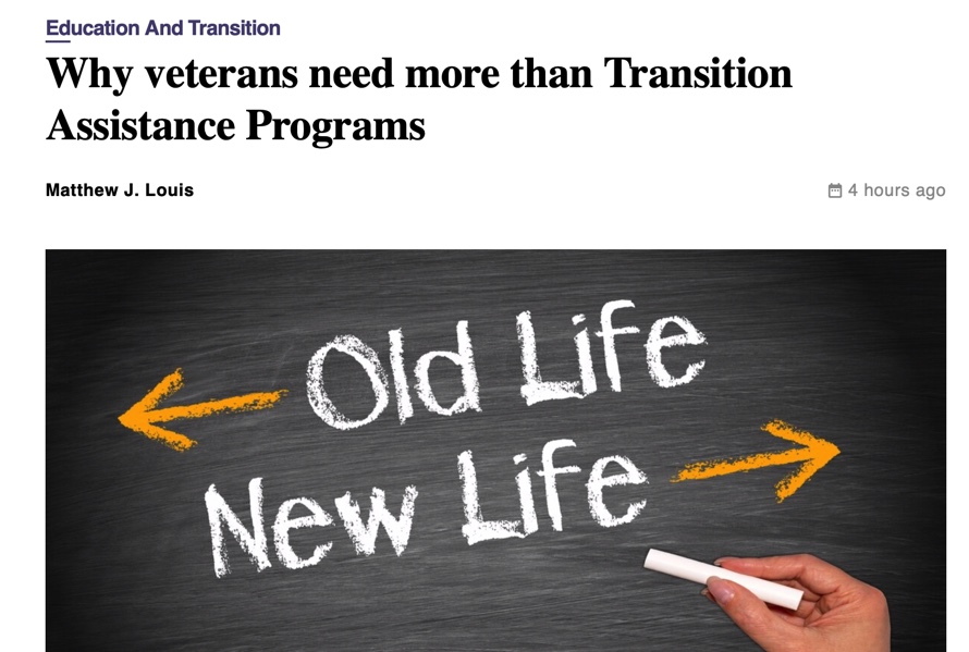 Why Veterans Need More Than TAP