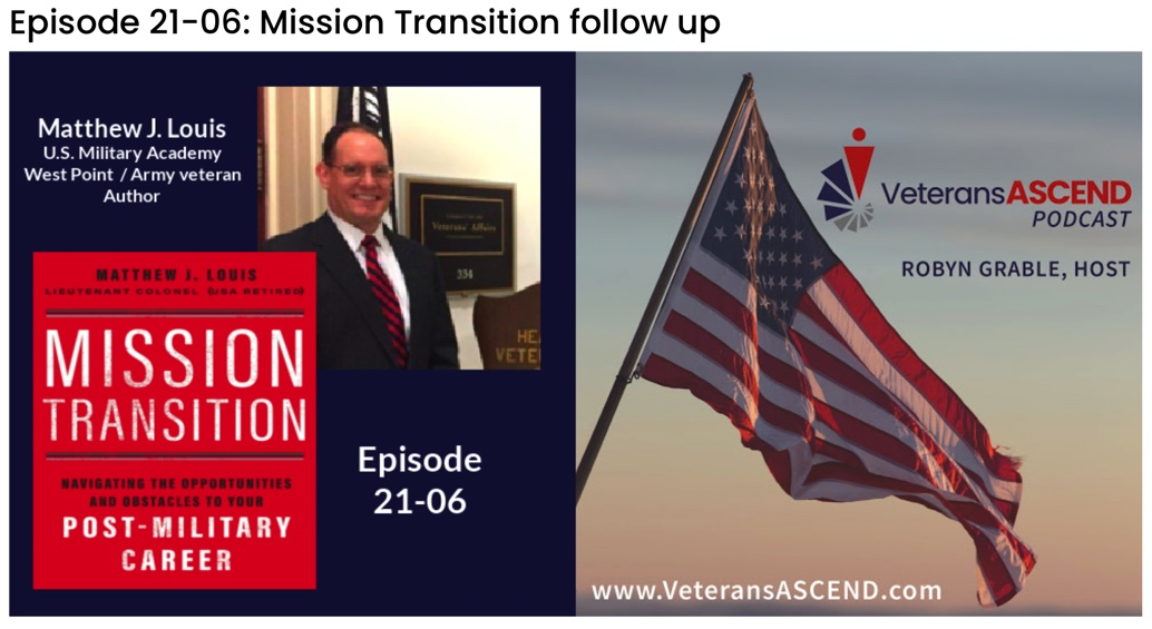 Veterans Ascend Podcast: Mission Transition Follow-up